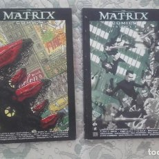 Cómics: THE MATRIX COMIX 1 Y 2 (158 Y 176 PAGINAS RESPECTIVAMENTE. EN INGLES. BURLYMAN EDIT., B/N Y COLOR)). Lote 211680224