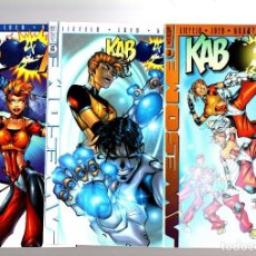 Cómics: KABOOM 1 2 3 COMPLETA - AWESOME 1999 VFN/NM VARIANT COVERS / ROB LIEFELD & JEPH LOEB. Lote 211954343