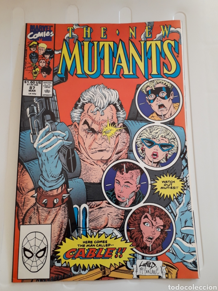 THE NEW MUTANS # 87. PRIMERA APARICIÓN DE CABLE. ¡ EXCELENTE ESTADO! ORIGINAL USA (Tebeos y Comics - Comics Lengua Extranjera - Comics USA)