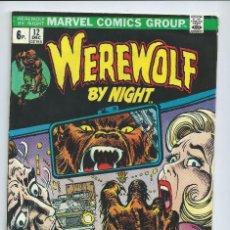 Cómics: WEREWOLF BY NIGHT Nº12 (DIC 1973). ORIGINAL MARVEL. MUY BUEN ESTADO. Lote 212584695