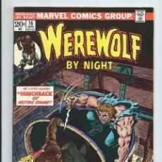 Cómics: WEREWOLF BY NIGHT Nº16 (ABRIL 1974). ORIGINAL MARVEL. MUY BUEN ESTADO. Lote 212584778