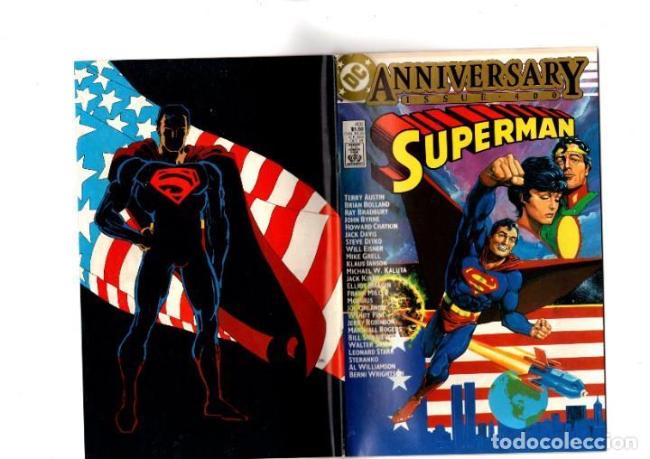 SUPERMAN 400 - DC 1984 VFN- GIANT SIZE ANNIVERSARY / BYRNE / BOLLAND / CHAYKIN / MOEBIUS / WRIGHTSON (Tebeos y Comics - Comics Lengua Extranjera - Comics USA)