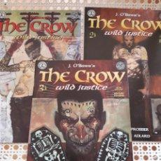 Cómics: THE CROW. WILD JUSTICE. # 1,2,3. ¡ COMPLETA!. ORIGINAL USA. EXCELENTE ESTADO. Lote 213959330