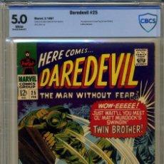 Cómics: DAREDEVIL# 25 CBCS 5.0 DE 1967. Lote 215256520