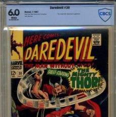 Cómics: DAREDEVIL# 30 CBCS 6.0 DE 1967. Lote 215256806