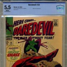 Cómics: DAREDEVIL# 33 CBCS 5.5 DE 1967. Lote 215256958