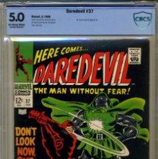 Cómics: DAREDEVIL# 37 CBCS 5.0 DE 1968. Lote 215257682