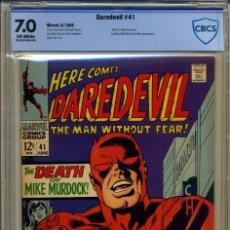 Cómics: DAREDEVIL# 41 CBCS 7.0 DE 1968. Lote 215258268