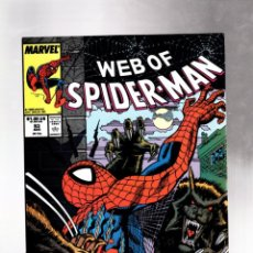 Cómics: WEB OF SPIDER-MAN 53 - MARVEL 1988 VFN / WOLVES IN THE NIGHT. Lote 215546815