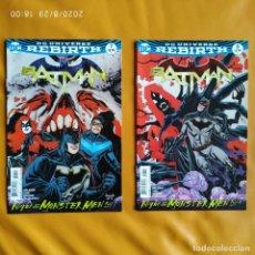 Cómics: DC UNIVERSE REBIRTH BATMAN: NIGHT OF THE MONSTER MEN, NÚMEROS 7 Y 8. Lote 215765147