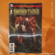 Cómics: THE NEW 52 FUTURES END SWAMP THING - ONE SHOT PORTADA Y CONTRA 3D LENTICULARES. Lote 217854667