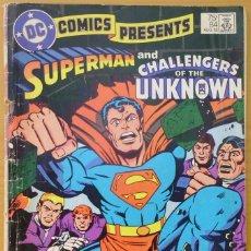 Cómics: COMIC USA EN INGLES DE AGOSTO DE 1985- SUPERMAN AND CHALLENGERS OF THE UNKNOWN. Lote 218728678