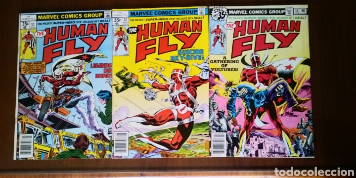 THE HUMAN FLY 11, 12 Y 18, MARVEL 1978 (Tebeos y Comics - Comics Lengua Extranjera - Comics USA)