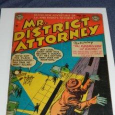 Cómics: (M9) MR DISTRICT ATTORNEY NUM 36 , AÑO 1953 SUPERMAN DC NATIONAL COMICS , ORIGINAL SEÑALES DE USO. Lote 221549917