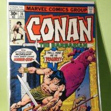 Cómics: MARVEL COMICS USA MARATÓN JOHN BUSCEMA CONAN 76. Lote 221728300
