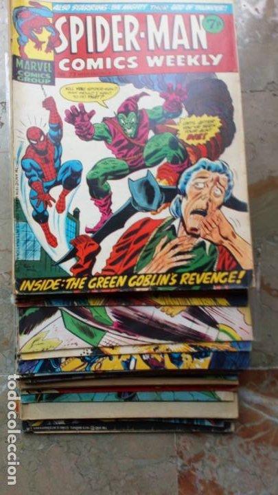 Cómics: Lote 36 cómics de Reino Unido Héroes Marvel (Hulk-Spiderman..) de los años 70 blanco y negro RAROS - Foto 8 - 222064063