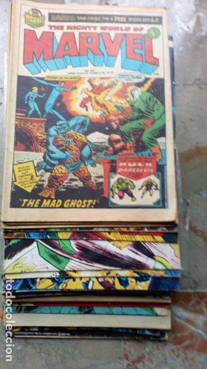 LOTE 36 CÓMICS DE REINO UNIDO HÉROES MARVEL (HULK-SPIDERMAN..) DE LOS AÑOS 70 BLANCO Y NEGRO RAROS (Tebeos y Comics - Comics Lengua Extranjera - Comics USA)