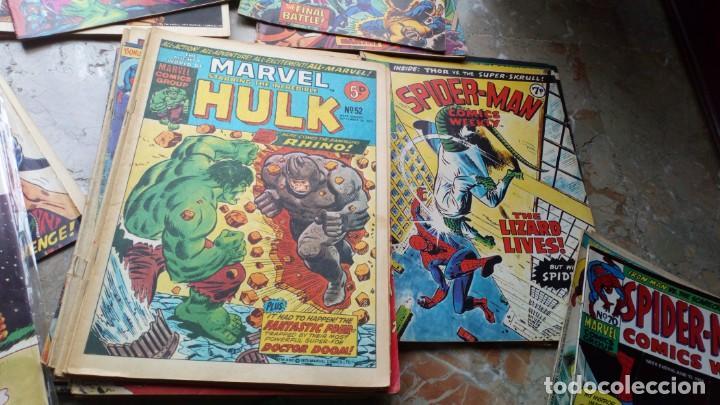 Cómics: Lote 36 cómics de Reino Unido Héroes Marvel (Hulk-Spiderman..) de los años 70 blanco y negro RAROS - Foto 2 - 222064063