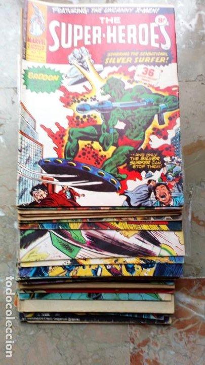 Cómics: Lote 36 cómics de Reino Unido Héroes Marvel (Hulk-Spiderman..) de los años 70 blanco y negro RAROS - Foto 3 - 222064063