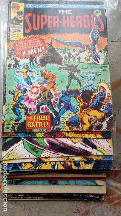 Cómics: Lote 36 cómics de Reino Unido Héroes Marvel (Hulk-Spiderman..) de los años 70 blanco y negro RAROS - Foto 4 - 222064063