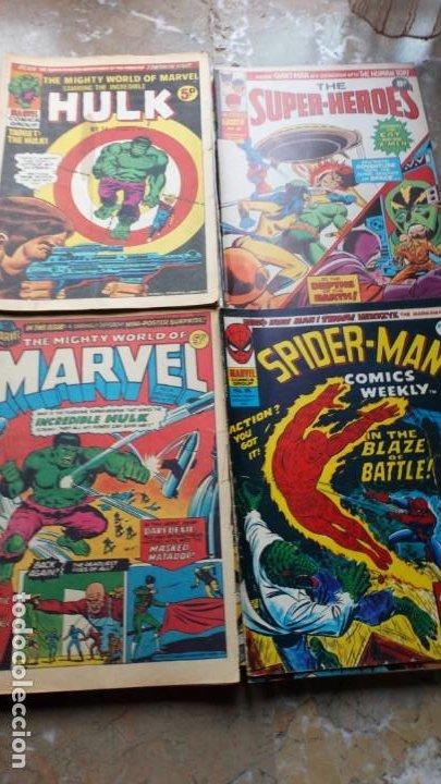 Cómics: Lote 36 cómics de Reino Unido Héroes Marvel (Hulk-Spiderman..) de los años 70 blanco y negro RAROS - Foto 5 - 222064063
