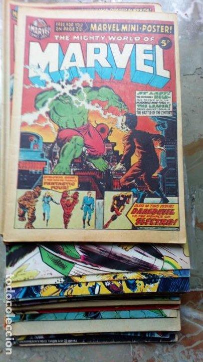 Cómics: Lote 36 cómics de Reino Unido Héroes Marvel (Hulk-Spiderman..) de los años 70 blanco y negro RAROS - Foto 6 - 222064063