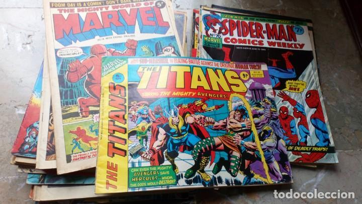 Cómics: Lote 36 cómics de Reino Unido Héroes Marvel (Hulk-Spiderman..) de los años 70 blanco y negro RAROS - Foto 7 - 222064063