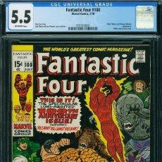 Cómics: FANTASTIC FOUR# 100 CGC 5.5. Lote 222224828