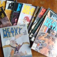 Cómics: HEAVY METAL ADULT FANTASY MAGAZINE . LOTE 12 NÚMEROS (EN INGLÉS) AÑO 1981 COMPLETO. Lote 222252562