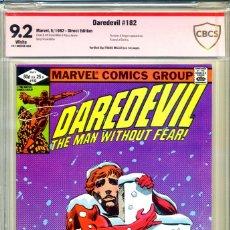 Cómics: DAREVIL# 182 CBCS 9.2 FIRMADO POR MILLER. Lote 223924897