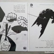 Cómics: BATMAN NOIR DARK KNIGHT RETURNS Y STRIKES AGAIN. Lote 224572207