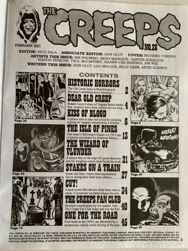 Cómics: REVISTA DE TERROR THE CREEPS 28 - A WARRANT MAGAZINE - CREEPY - EERIE - FEBRERO 2021 RICHARD CORBEN - Foto 4 - 224956475