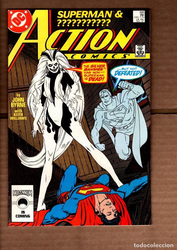 ACTION COMICS 595 SUPERMAN - DC 1987 VFN- / JOHN BYRNE / SILVER BANSHEE (Tebeos y Comics - Comics Lengua Extranjera - Comics USA)