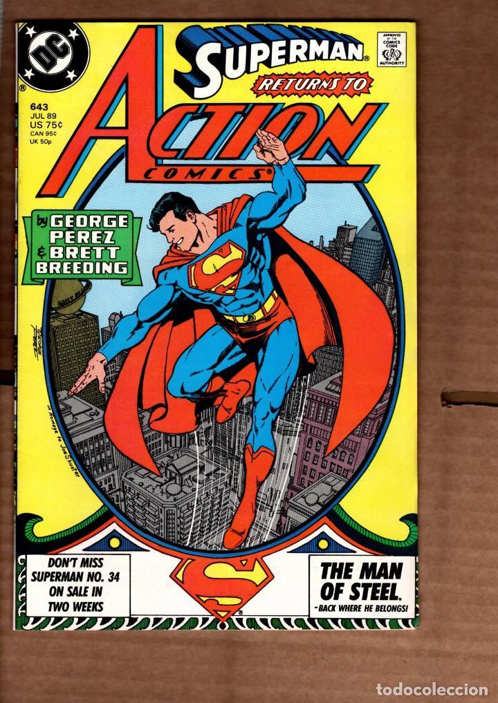 ACTION COMICS 643 SUPERMAN - DC 1989 VFN- / GEORGE PEREZ (Tebeos y Comics - Comics Lengua Extranjera - Comics USA)