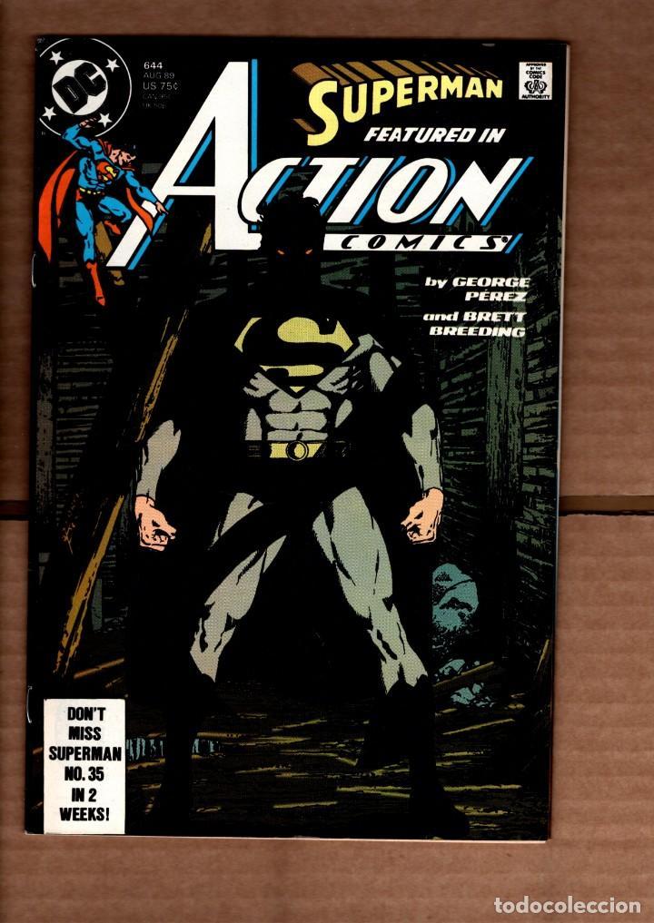 ACTION COMICS 644 SUPERMAN - DC 1989 VFN- / GEORGE PEREZ (Tebeos y Comics - Comics Lengua Extranjera - Comics USA)