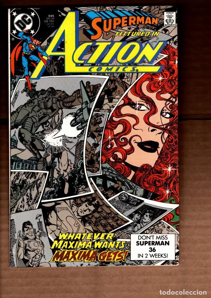 ACTION COMICS 645 SUPERMAN - DC 1989 VFN- / GEORGE PEREZ / 1ST MAXIMA (Tebeos y Comics - Comics Lengua Extranjera - Comics USA)