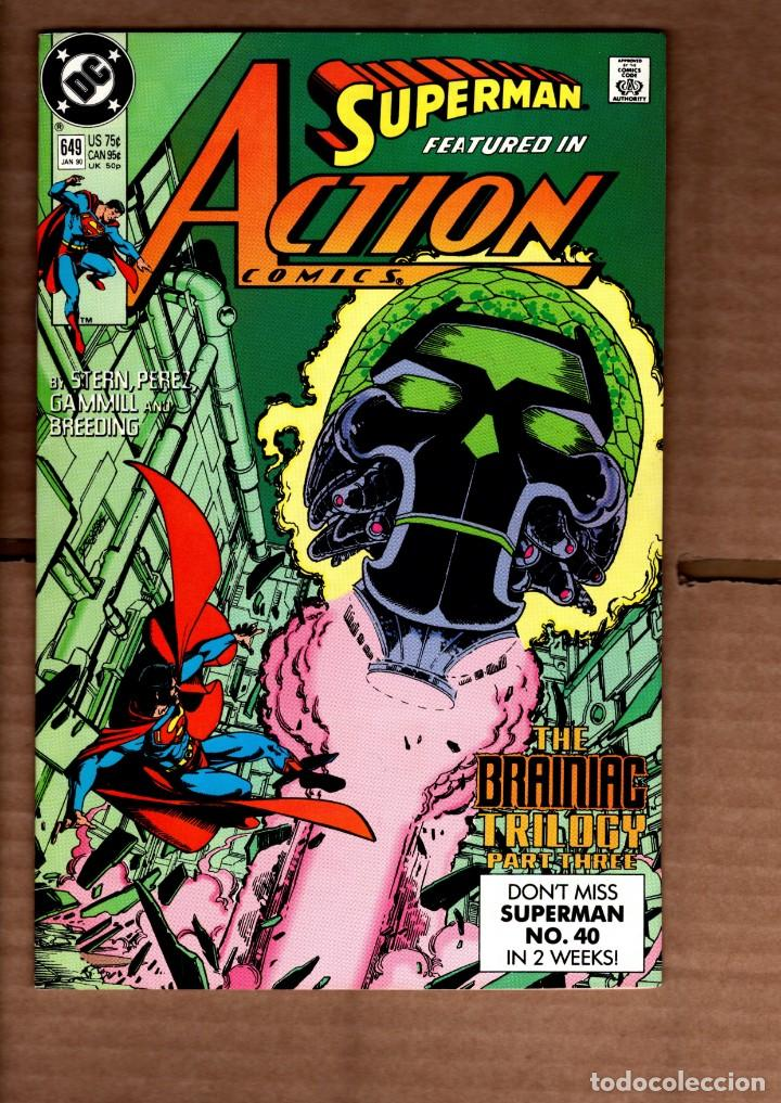 ACTION COMICS 649 SUPERMAN - DC 1990 VFN- / GEORGE PEREZ / THE BRAINIAC TRILOGY (Tebeos y Comics - Comics Lengua Extranjera - Comics USA)