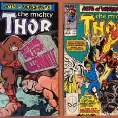 Cómics: THOR (THE MIGHTY) #411 & 412 (1962-1996 SERIES) - 1ST APPEARANCE OF THE NEW WARRIORS. Lote 227885325
