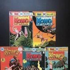 Cómics: KONG THE UNTAMED (1975 DC) JACK OLECK-ALFREDO ALCALA COMPLETA 5 Nº. Lote 229238920