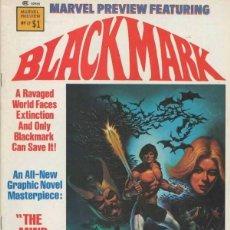 Cómics: MARVEL PREVIEW PRESENTS BLACKMARK Nº 17 (1975 MARVEL). Lote 229408545