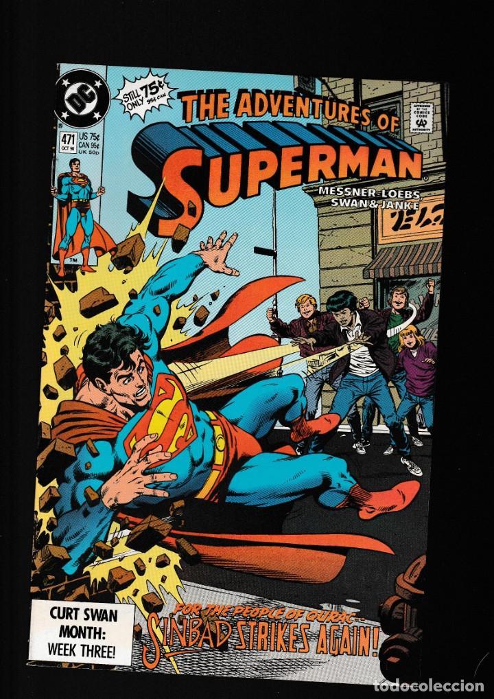 SUPERMAN 471 ADVENTURES OF - DC 1990 VFN/NM / WILLIAM MESSNER-LOEBS & CURT SWAN (Tebeos y Comics - Comics Lengua Extranjera - Comics USA)
