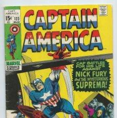 Cómics: CAPTAIN AMERICA Nº 123 (MARZO 1970). ORIGINAL MARVEL. MUY BUEN ESTADO. STAN LEE - GENE COLAN. Lote 234390165