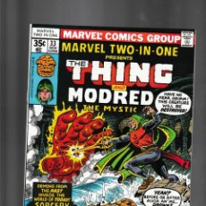 Fumetti: MARVEL TWO IN ONE 33 1977 VFN+ / THING & MODRED THE MYSTIC. Lote 239940600