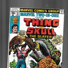 Fumetti: MARVEL TWO IN ONE 35 VFN 1978 / THING & SKULL THE SLAYER / MARV WOLFMAN & ERNIE CHAN. Lote 239940875