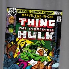 Fumetti: MARVEL TWO IN ONE 46 VFN 1978 / THING & HULK / ALAN KUPPERBERG. Lote 239943170