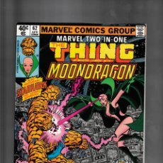 Fumetti: MARVEL TWO IN ONE 62 VFN/NM 1980 / THING, HER, STARHAWK & MOONDRAGON / THANOS. Lote 239947185