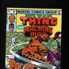 Fumetti: MARVEL TWO IN ONE 93 VFN/NM 1982 / THING & JOCASTA & MACHINE MAN / ULTRON / DEFALCO & WILSON. Lote 241380595