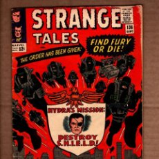 Comics: STRANGE TALES 136 - MARVEL 1965 VG+ / 2ND SHIELD / DOCTOR STRANGE / STAN LEE / JACK KIRBY / DITKO. Lote 243034695