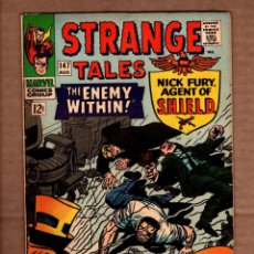 Comics: STRANGE TALES 147 - MARVEL 1966 FN- / SHIELD / DOCTOR STRANGE / STAN LEE / JACK KIRBY / BILL EVERETT. Lote 243035385