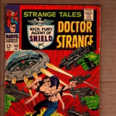 Comics: STRANGE TALES 153 - MARVEL 1967 VG+ / SHIELD / DOCTOR STRANGE / STAN LEE / JACK KIRBY. Lote 243035705